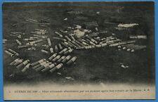 CPA: Obus allemands abandonnés par ces derniers aprés leur retraite de la marne