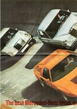 Mercedes-Benz 1969-71 UK Foldout Brochure 220 250 280 S SE 300 SEL 6.3 280 SL