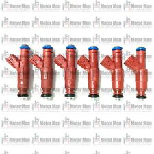 Re-Manufactured Set OF 6 Genuine 4-Hole Nozzle Upgraded Siemens Fuel Injectors For 2005-2006 Jeep Wrangler /& TJ 4.0L I6 53013690AA
