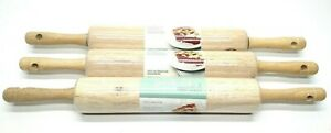 Kitchen Rolling Pin 3 Pack Good Cook Essentials Hard Wood Water Resistant