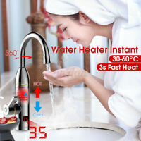 360° Electric Instant Faucet Tap Hot Water Heater LED Heating Bathroom