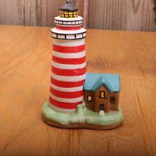 Lighthouse Decor Tea Light Candle Holder Ceramic Nautical Decor