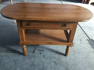 LEXINGTON AMERICAN COUNTRY WEST HARVEST SOFA TABLE SOLID OAK MADE IN USA 901-946
