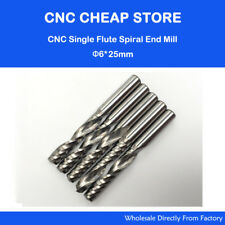 6mm*25 Carbide CNC Router Bits One Single Flute End Mill Cutting Milling Tools