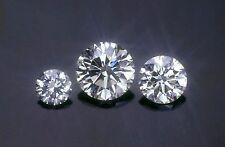 100 STONES OF 1 mm EACH DIAMOND WHITE POLISHED BRILLIANT VVS-F 0.50 ct