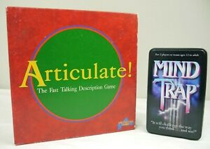 Bundle Articulate Board Game by Drumond Park 1998 +MindTrap Tin Edition Free P&P