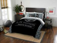 Los Angeles Kings - 3 Pc FULL / QUEEN SIZE Printed Comforter / Sham Set