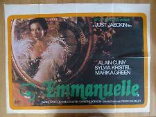 EMMANUELLE (1974) - original UK quad film/movie poster,Sylvia Kristel,sex,erotic