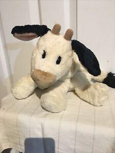 "GUND Belle The Cow Plush 60012 Small 9"" Cream Black Calf Stuffed Animal *READ*"