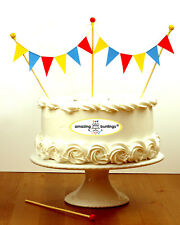 Circus Cake Topper,Premium Bunting Party Decoration,Red Yellow Blue,Made in UK