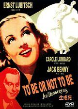 "New DVD "" To Be Or Not To Be ""  Carole Lombard, Jack Benny"