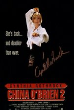 CYNTHIA ROTHROCK signed Autogramm 20x30cm MARTIAL LAW in Person autograph COA