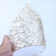 20cm High Large Queen Crystal Wedding Bridal Party Pageant Prom Tiara Crown