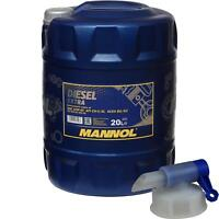 20 Liter MANNOL Motoröl SAE 10W-40 DIESEL EXTRA Engine Oil Öl inkl. Auslaufhahn