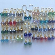 28Pairs Crystal GP Earring Charm,2Pcs 14K Gold Filled Interchangeable Lever back