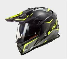 LS2 MX436 Casco Motocross Taglia M - Titanio Opaco/Giallo (404362654)