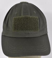 Green Military Style Hook & Latch Embroidered baseball hat cap adjustable Strap