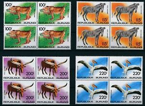 [P15918] Burundi 1992 : Fauna - 4x Good Set Very Fine MNH Airmail Stamps - $160