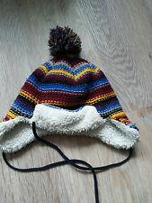 Baby Kinder Junge Mütze Winter Wintermütze Babymütze, blau/rot, ca. Gr. 51