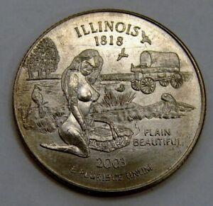 "Illinois - Plain Beautiful - Adult Themed ""Sexy Quarter"""