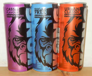 3 Very nice KONG STRONG ENERGY DRINK cans from HOLLAND (250ml)