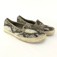 Clarks Collection Womens Shoes Slip On Espadrilles Faux Snakeskin Brown Size 7