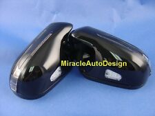ARROW LED DOOR MIRROR BLACK COVERS FOR 2006-2009 MERCEDES BENZ R230 SL-CLASS SL