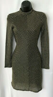 Topshop Gold Metallic High Neck Chainmail Bodycon Dress Size 8
