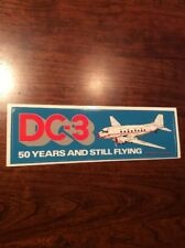 DC-3 AIRLINES  STICKER 50 YEARS MCDONNELL DOUGLAS