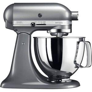 KitchenAid 5KSM125 Artisan 4.8l 300W Stand Mixer - Contour Silver - UK - NEW
