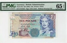 1995 Guernsey 10 Pounds PMG65 EPQ GEM UNC  <P-57b>