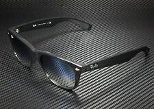 RAY BAN RB2132 901 3A New Wayfarer Black Clear Grad Green 55 mm Sunglasses