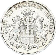 Hamburg Stadt 5 Mark 1893 J seltener Jahrgang Silber ss J 65