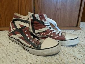 EVH Eddie Van Halen 5150 EV027 Red High-Top Sneakers Shoes Size US 11