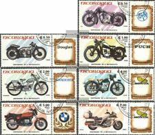 Nicaragua 2568-2574 (kompl.Ausg.) gestempelt 1985 100 Jahre Motorräder