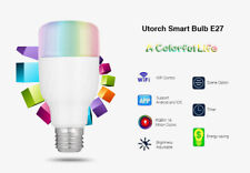 E27 Smart LED Bulb RGBW Remote Control Wireless WiFi Dimmable Light 7W AC85-265V