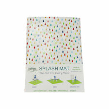 Splat Mat Under Highchair Mat Messy Mat Waterproof Kids Art Mat Rain Drops