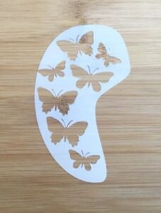 Face painting stencil reusable washable butterfly face and cheek 11 cms x 7 cms