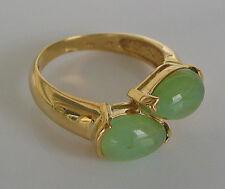 Wow✨ Crysoprasringe Edelstein Ring in aus Gold mit Chrysopras Schmuck Crysoprase