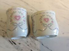 Set Of Vintage Country Ceramic Toothbrush Holder And Cup Set Never Used