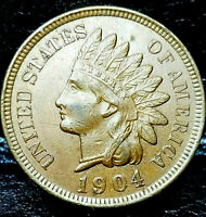 1904 Indian Head Penny Cent- UNCIRCULATED!!!  Beautiful Fantastic Eye Appeal