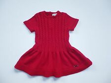 MAYORAL CHIC BOUTIQUE RED CABLE HOLIDAY SWEATER  DRESS ( B9) SZ 6 Months 68 CM
