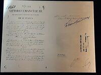 Vittorio Emanuele III DECRETO FONDAZIONE IST. CREDITO COOPERAZIONE - BNL argento