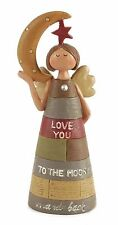 Angel figurine love you to the moon Heaven Sends
