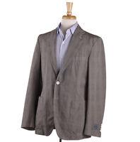 NWT $1295 BELVEST Lightweight Glen Plaid Cotton and Linen Sport Coat 40 R