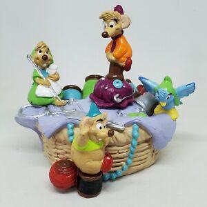 Dinsey Li'l Classics Cinderella Sewing Basket Mice PVC Figure Jaq Gus Suzy