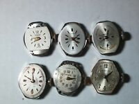 Vintage LOT of 6 watch movements, cleaned, for watch repair/parts: Benrus CZ2L2,
