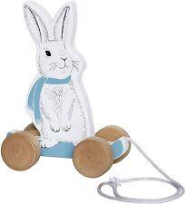 Bloomingville Nachziehspielzeug / Nachziehtier, Hase, blau, Holz