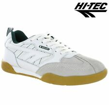 Mens HI-TEC SQUASH Badminton Classic Retro Running Walking GYM Trainers Sz 6-14