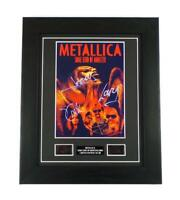 METALLICA SIGNED PREPRINT + SOME KIND OF MONSTER FILM CELLS MEMORABILIA GIFT